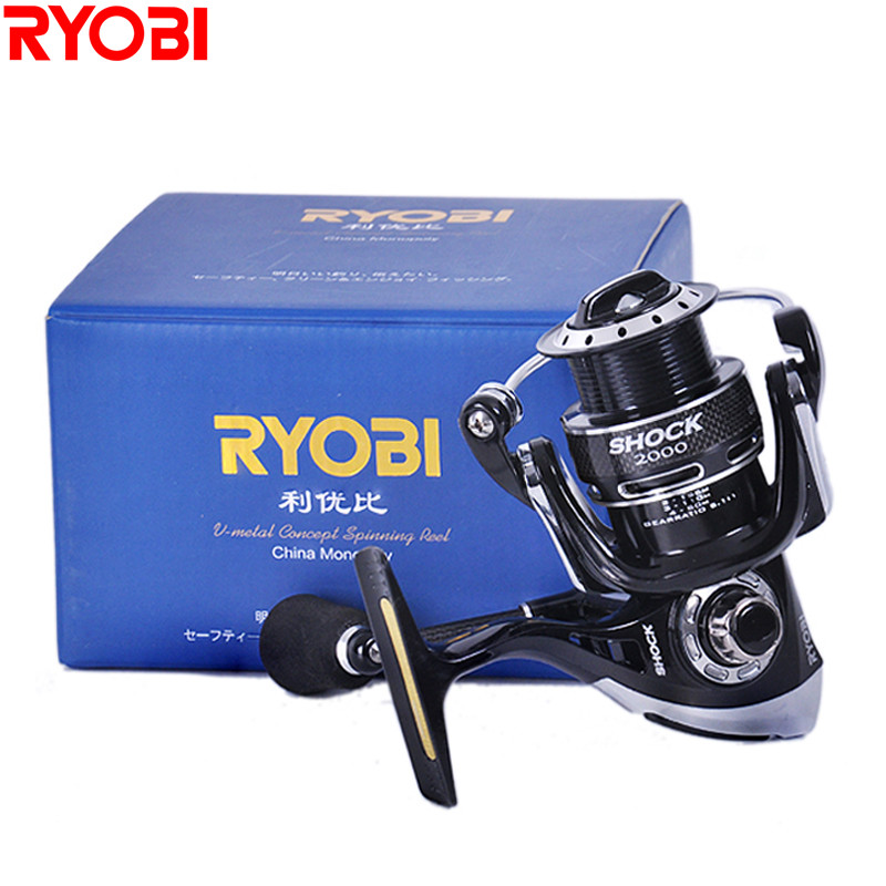 RYOBI SHOCK 1000-4000 Series Spinning Fishing Reel 7+1BB Carp Reels Carretilha De Pescaria Molinete Peche Accessory New KRIEGER image