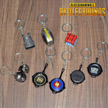 PUBG Keychain Cosplay Costume Accessories Helmet Backpack Pan Metal Model Key Chain PLAYERUNKNOWN'S BATTLEGROUNDS стоимость