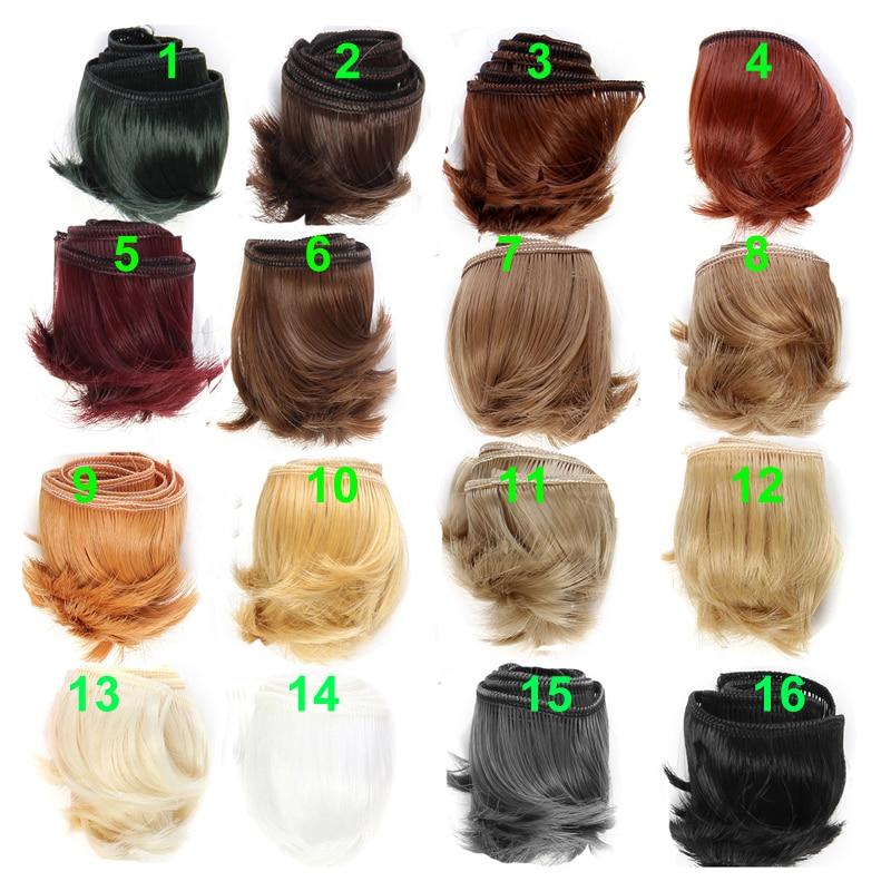 1piece 5cm black white brown color straight doll hair for 1/3 1/4 BJD doll diy hair