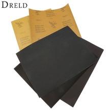 DRELD 5 גיליונות נייר זכוכית עמיד למים שוחקים נייר חול נייר סיליקון טחינת ליטוש כלי (1xGrit 600 2x1000 1x1500 1x2000)