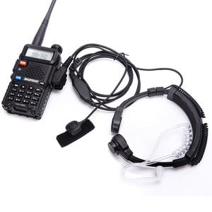 Image 1 - Walkie talkie fone de ouvido garganta microfone tubo acústico fone de ouvido ptt garganta microfone fone para baofeng uv5r uv82 VX 3R