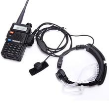 トランシーバーヘッドセット喉マイク音響管イヤホンヘッドセットptt喉マイクマイクイヤホンbaofeng UV5R UV82 VX 3R