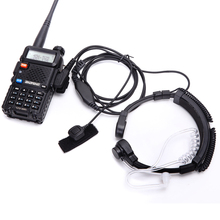 walkie talkie headset throat mic Acoustic Tube Earpiece Headset PTT Throat MIC Microphone Earphone For Baofeng UV5R UV82 VX 3R