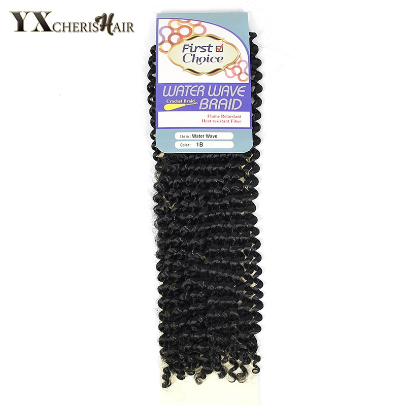 YXCHERISHAIR (1-5pcs/lot) Freetress Crochet Braids Synthetic Braiding Curly Hair Extensions Natural Black Pre Loop Island Twist