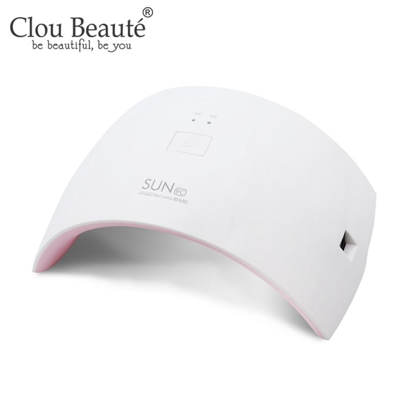 Clou Beaute Gel Polish Nail Lamp 24W US Plug Dryer LED UV Light 6W Mini Gel Nail Dryer Nail Polish Manicure Fast Dry Nail Lamp