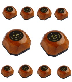Wholesale cheap10pcs set waiter call bell,natural wood color wireless calling system transmitter, paging pager call buttonWholesale cheap10pcs set waiter call bell,natural wood color wireless calling system transmitter, paging pager call button