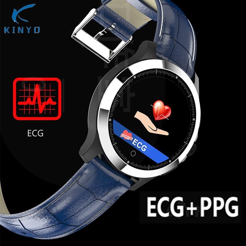 Smart Bracelet ECG+PPG Smart Watch Blood Pressure Sports Fitness Tracker Waterproof Call Message Reminder Smartwatch Men pk z02