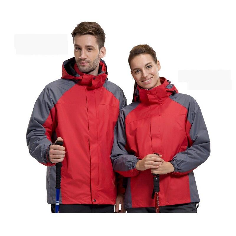 Men Women Winter Outdoor Jackets Fleece Warm Snow Outdoor Sports Hiking Skiing Male Female Splice Jackets Waterproof Jackets