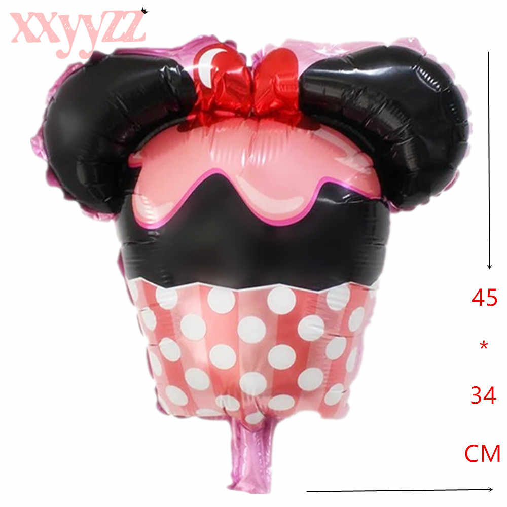 "Микки воздушный шар ""Минни"" Мини головной убор фольги воздушный шарик на день рождения ребенка Вечерние"