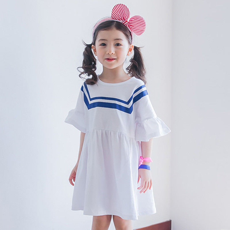 Подробнее о Tribros 2017 Summer Girls Dress Striped Flare Sleeve Baby Girl Clothing Children Clothes Next Costumes For Kids Princess Dresses 2016 summer baby girl dresses princess children flower dress baby clothing kids dress brand girls baby clothes costumes
