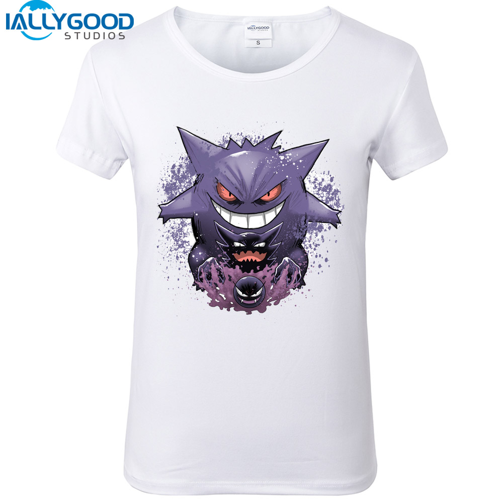 funny-font-b-pokemon-b-font-gengar-evolution-t-shirts-3d-design-tops-cartoon-print-women-t-shirt-slim-casual-cotton-white-tops-s585