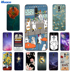 """Cover For Huawei Mate 10 Lite 5.9"""" Phone Cases Cat Landscape For Huawei Nova 2i Soft Silicone for Honor 9i / MaiMang6 Fundas"""