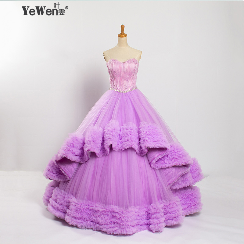 wedding dress purple sash promotion shop for promotional wedding dress