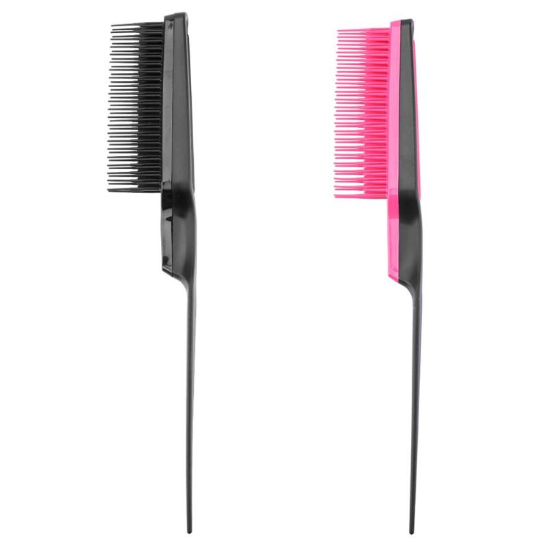1PC Professional Hairdressing Dense Tooth Comb Plastic Fine-tooth Comb Salon Anti-static Combs Hairbrush Styling Tools