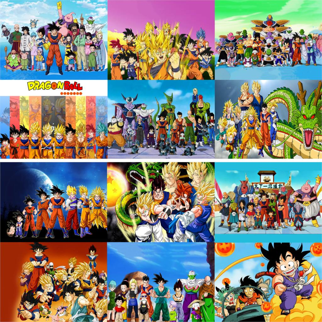 Dragon Ball classic anime posters wall stickers glossy paper home decoration