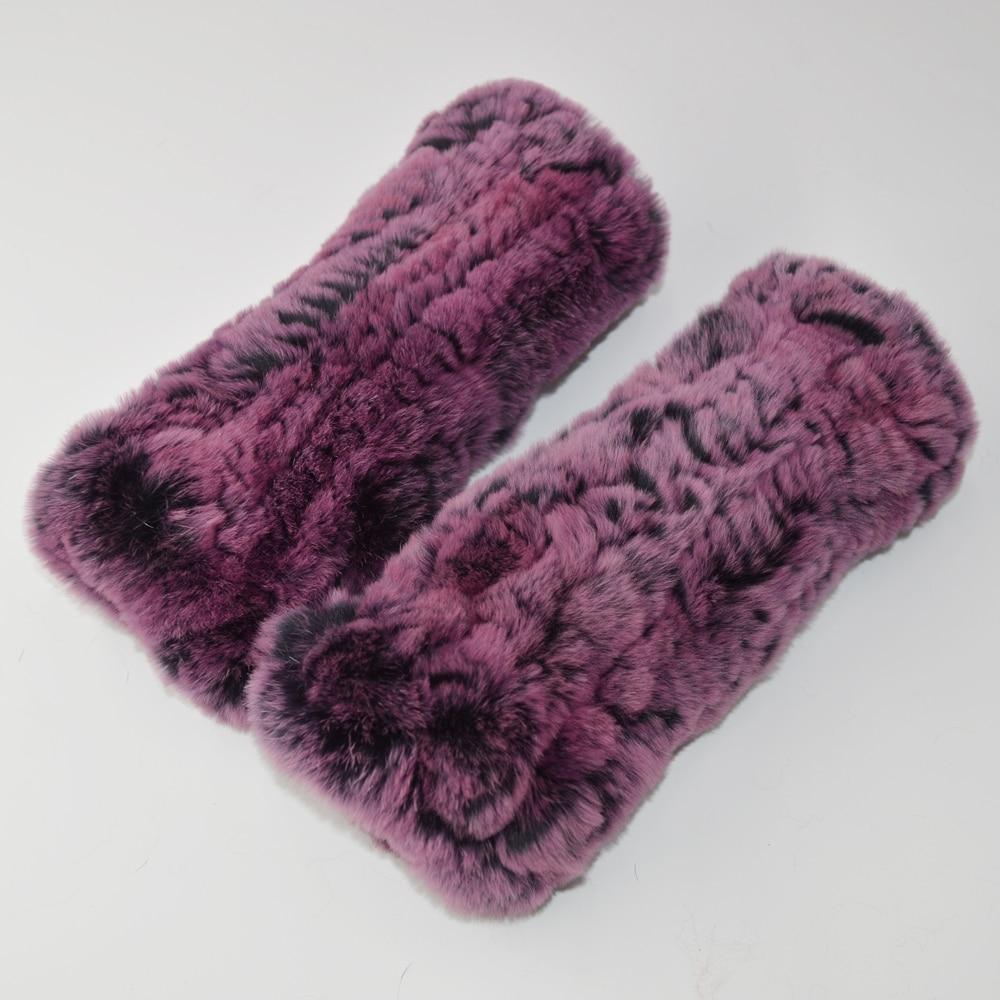 Femmes réel véritable vison fourrure mitaines en tricot d/'hiver élastique Gants Mitaines
