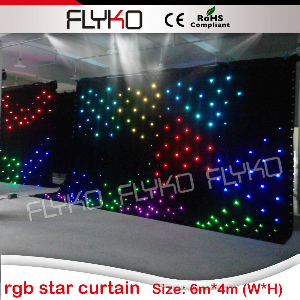party decoration rgb led starlit curtain 6x4m