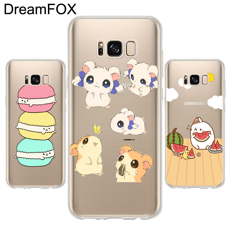 K285 Drawing kawaii Soft TPU Silicone Case Cover For Samsung Galaxy Note 3 4 5 S5 S6 S7 Edge S8 Plus Grand Prime