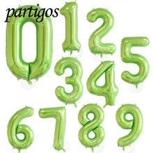 1 pçs 40 polegada número balões abacate cor verde folha balões hélio globos chuveiro do bebê festa de aniversário decoração globals verão dec
