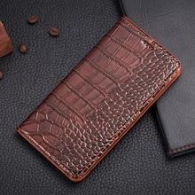 Урожай Магнит Натуральная Кожа Case Для Nokia Lumia 950 XL 950XL Роскошный Мобильный Телефон Крокодил Зерна Кожаный Чехол