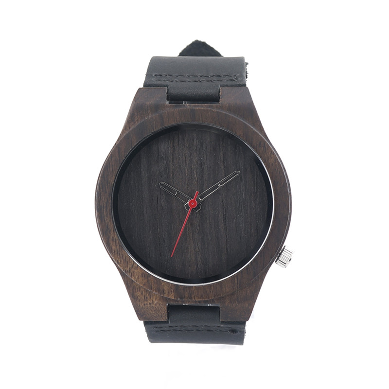 купить 2016 Newest  Luxury Natural Black Sandal Mens Wooden  Watch  Japan MIYOTA Analog Movement Wood Quartz Watches Dress Wristwatch онлайн