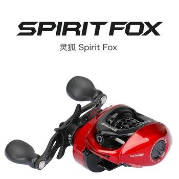 TSURINOYA espíritu FOX BFS carrete BEIT delicadeza 162g ultraligero de pesca dos secciones carrete para perca tilapia trucha bajo bfs baitcaster