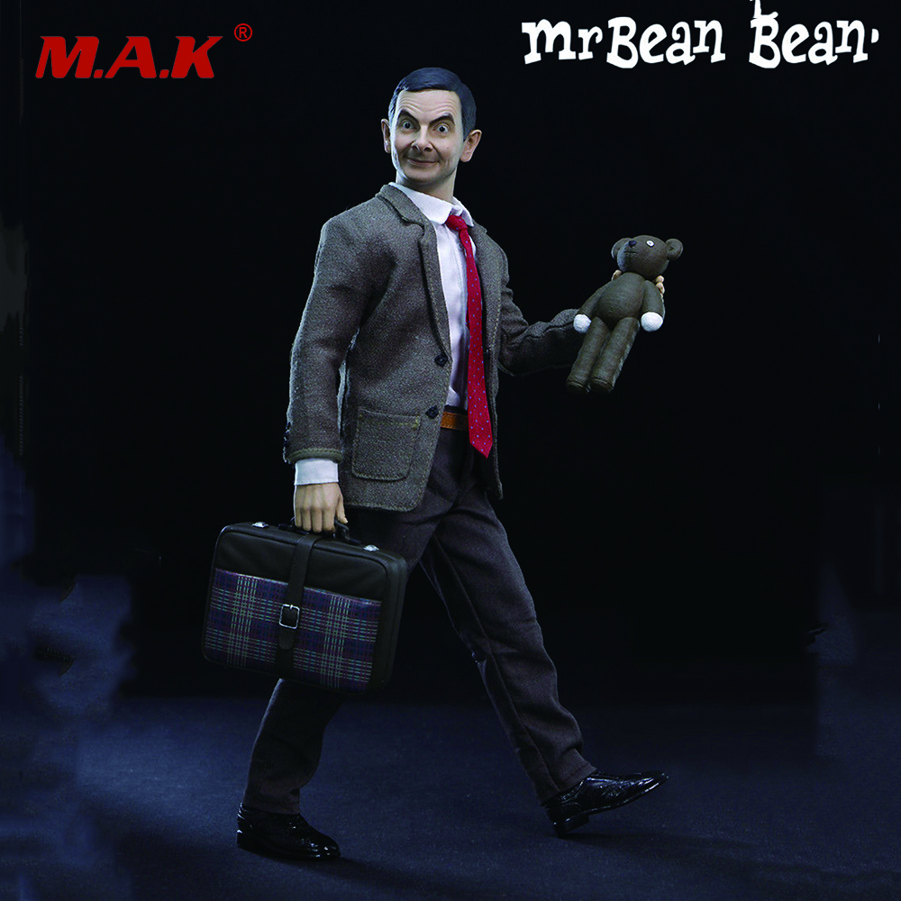 1/6 Mr. Bean Rowan Atkinson Collectible Figure full set action   figure with Two Heads for Collections   Toys Gifts 1 6 scale atom cats rorty womens collectible full set action figure model toys gifts collections with body head clothe