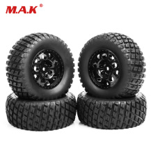 4pcs/set RC 1:10 short course truck tires&wheel 12mm hex fit for TRAXXAS SlASH car rim tires tyre