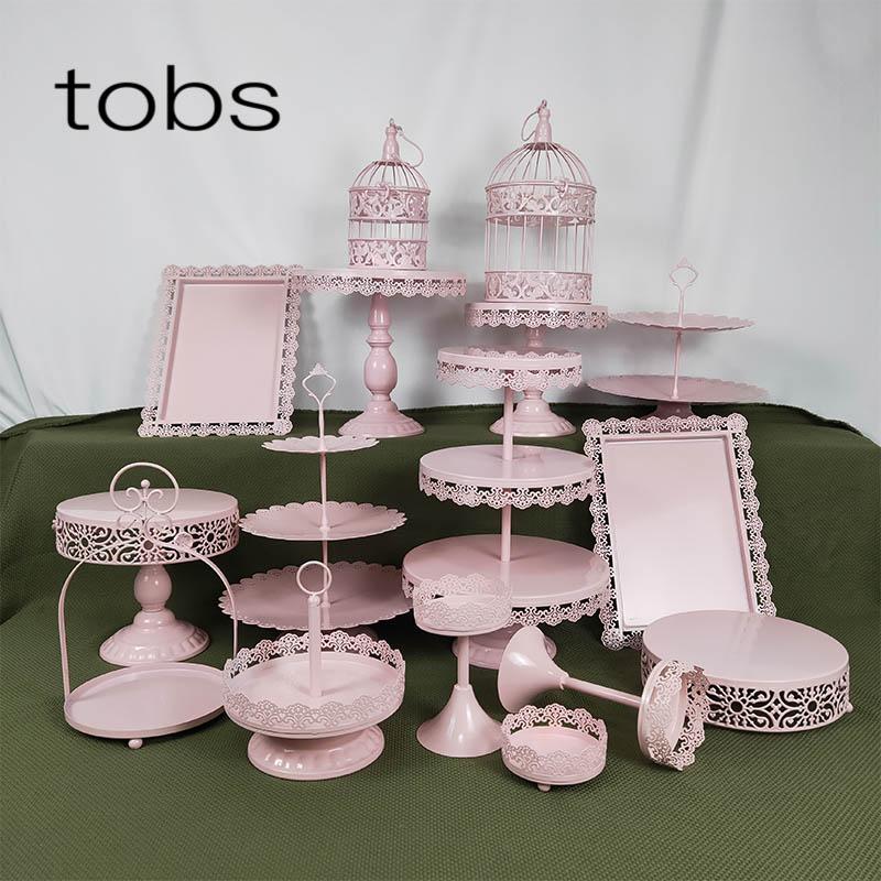 16 шт 3 яруса новый тип мини кекс пластина металлический свадебный торт стенд набор хрустальные украшения поставки