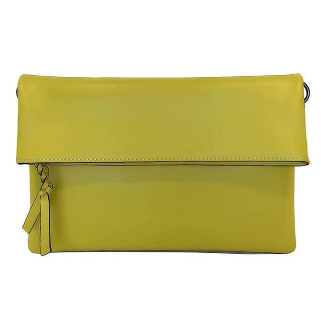 444a746d6a 2018 Soft Natural Leather Envelope Handbags High Quality Women Evening  Clutch Party Lady Shoulder Messenger Crossbody Bag