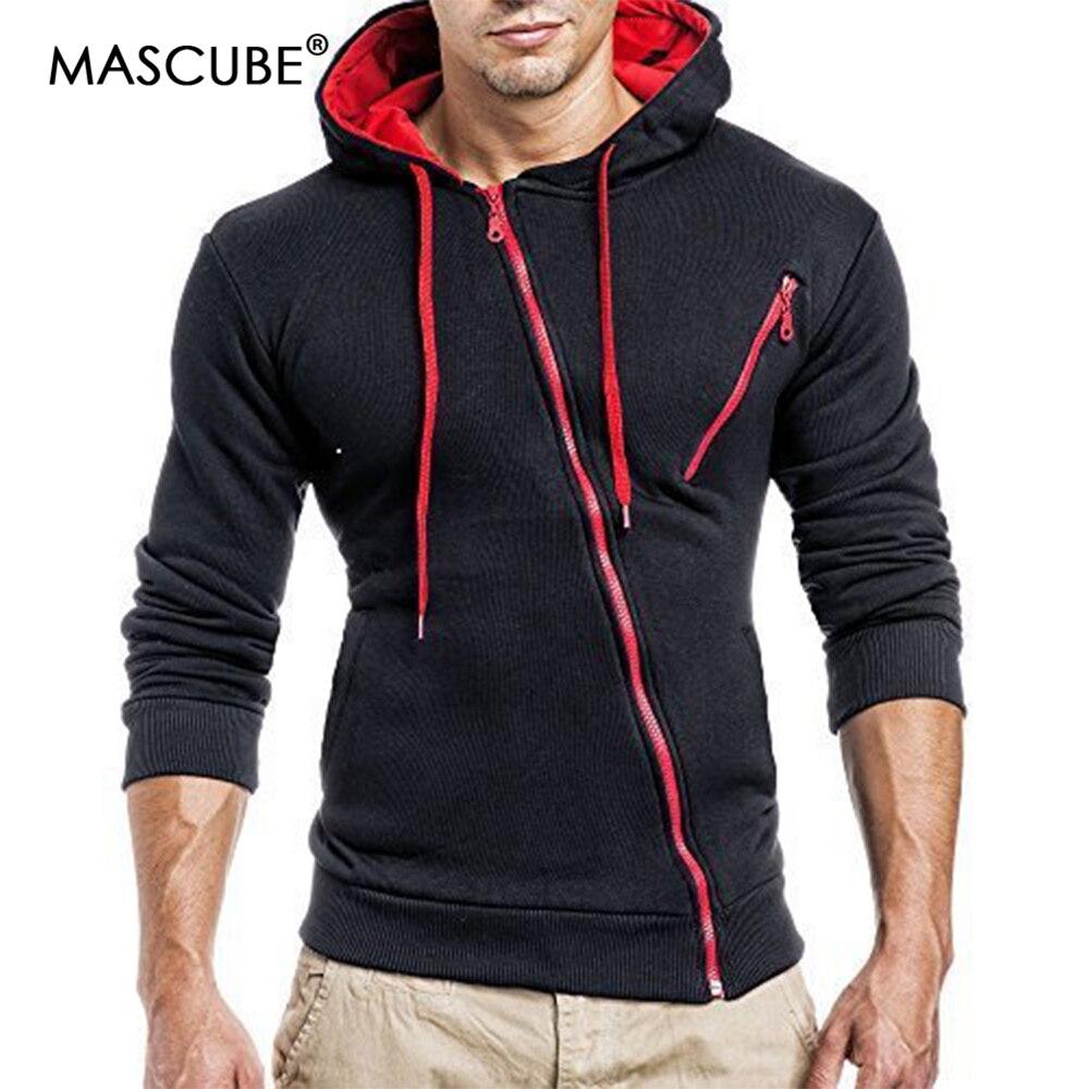 MASCUBE New Men Sets Zipper Coat Men's Outwear Sweatshirts Winter Hooded Jacket Warm Coats Jacket Slim Hooded Sweatshirt Jackets