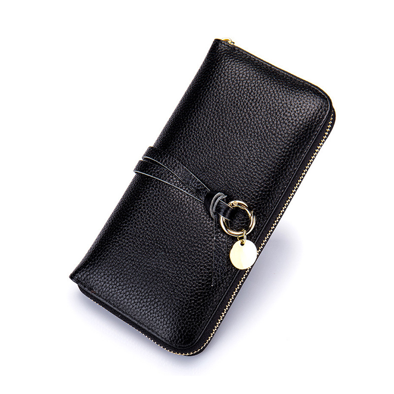 Fashion Genuine Leather Wallet Women Long Purse Wallet Female Clutch Women Wallets Luxury Brand Coin Purse for Phone Card Holder women leather wallets v letter design long clutches coin purse card holder female fashion clutch wallet bolsos mujer brand