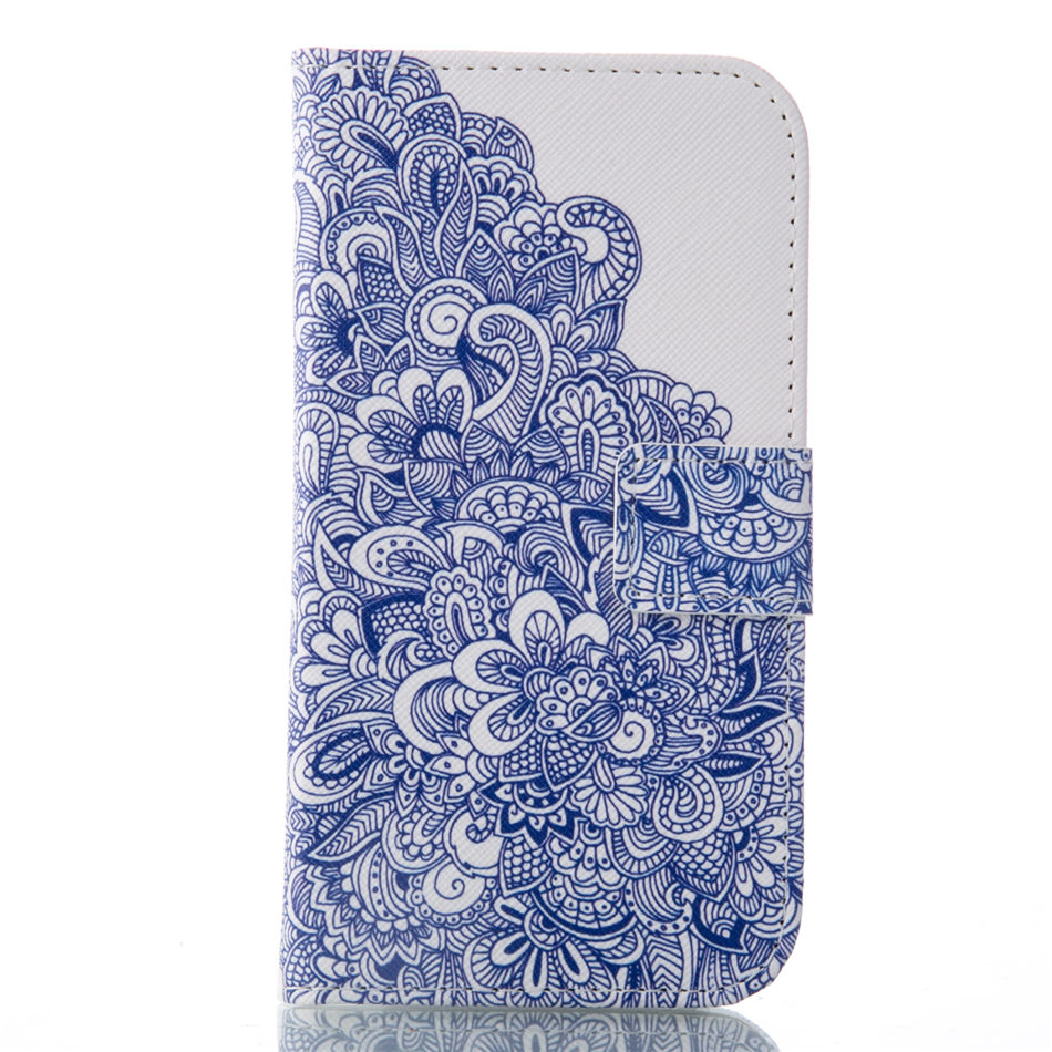 Wallet Flip Leather Case For Samsung Galaxy S4 i9500 S IV SIV Mobile Phone Lavender Case Capa Leather Silicone Back Cover P23Z in Wallet Cases from Cellphones Telecommunications