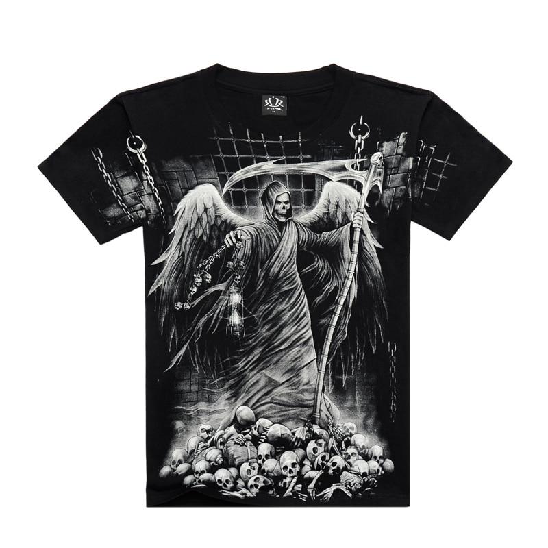 Camisa dos homens T 3D Tshirt Homens Digital Impresso Camisetas dos homens T-shirt 3D Algodão Casual T-shirt de Manga Curta Plus Size 3XL