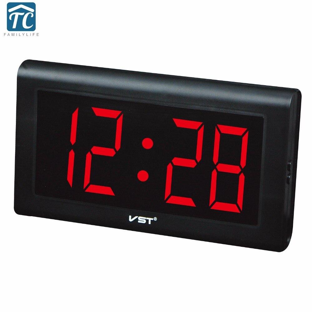 Nouvelle horloge de Table en plastique moderne horloge de mur LED numérique chiffres lumineux grand affichage horloges numériques avec prise horloge lumineuse
