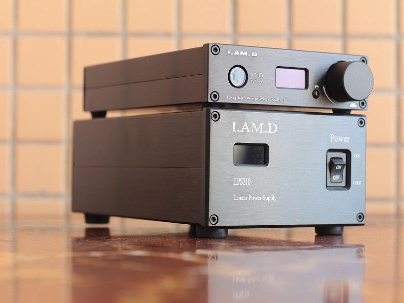 2019 Nova I. SOU. D V200/V200BT Amplificador Totalmente Digital de Áudio Bluetooth 5.0 APTX CSR8765 + LPS210 AC110V Linear fonte de Alimentação Opcional