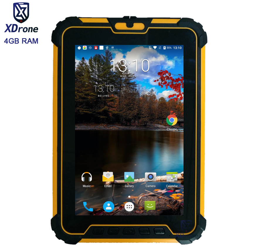 Originale Kcosit Tablet Impermeabile Antiurto PC Android 7.1 4 GB di RAM 64 GB ROM MSM8953 Octa Core 8