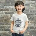 Pioneer niños 2016 cabritos del verano camiseta de los niños camiseta de los muchachos de la escuela t-shirt de manga corta de algodón niño remata camisetas