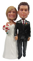 Express miễn phí vận chuyển Cá Nhân búp bê bobblehead đi đến món quà cưới kết hôn trang trí đám cưới polyresin búp bê Tùy Chỉnh