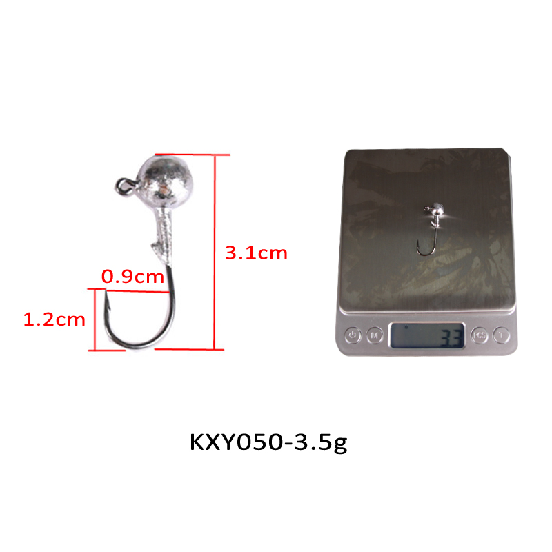 Image 2 - KASSYAA 20 50pcs Jig Head Hook 1g 2g 3.5g 5g 7g 10g 14g 20g Soft Worm Lead Fishing Hooks Jig Lure Fishing Tackle KXY050-in Fishhooks from Sports & Entertainment