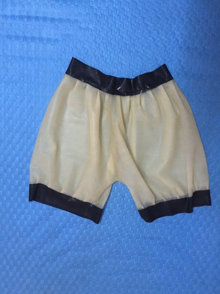 Transprent Latex Sous-Vêtements En Caoutchouc Latex Défaites Sexy Usure En Caoutchouc de Latex Hommes Shorts Pantalon