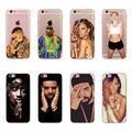 Hot Rihanna Kylie Kendall Jenner Miley Cyrus Kanye Omari West TUPAC SHAKUR Drake Case Cover For Apple iPhone 5 5S SE 6 6S 7 Plus
