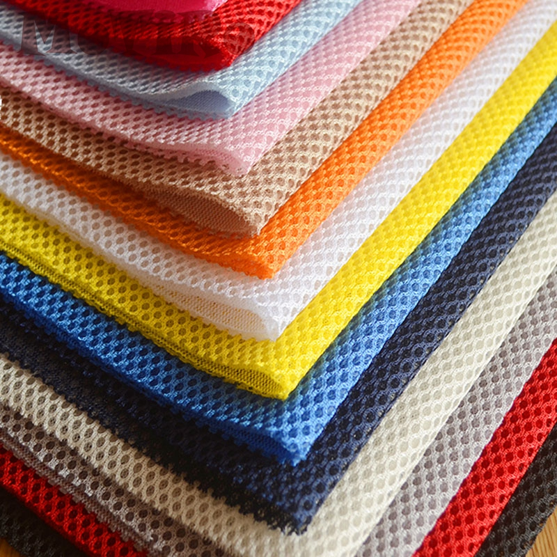 3D Mesh Fabric Three Layer Sandwich Spacer Cloth Thick Material By Metre DIY Red