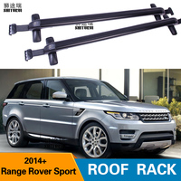 2Pcs Roof bars For LAND ROVER Range Rover Sport  5 dr SUV  2014  Aluminum Alloy Side Bars Cross Rails Roof Rack Luggage|Roof Racks & Boxes|   -