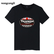 2017 Fashion Summer GREAT BRITAIN TRIUMPH MOTORCYCLE Short Sleeve T-shirt Men Cotton Casual Short Sleeve T Shirt Plus Size 4XL
