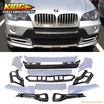 FOR 07-10 BMW X5 E70 FULL AERODYNAMIC BODY KIT BUMPER SPOILER LIP FRONT REAR PP 2007 bmw x5 spoiler
