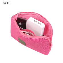 SYTH Travel Electronic Accessories Cable Organizer Bag Portable Case SD card Flash Drives Wire Earphone Double Layer Storage Box