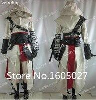 Аниме Высокое качество индивидуальный заказ Костюмы Assassins Creed 2 II Белый фигурку Косплэй костюм Эцио форма костюм Любой Размер