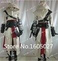 Anime de Alta Calidad Por Encargo Ropa Assassins Creed 2 II Blanco Figura de Acción de Ezio Cosplay Traje Uniforme Cualquier Tamaño