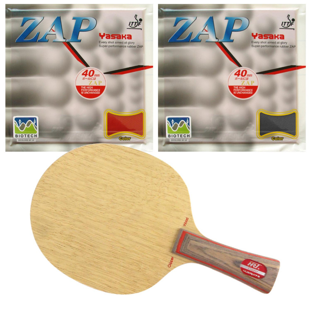 HRT 2091 Blade with 2x Yasaka ZAP BIOTECH 40mm NO ITTF Rubbers for a Table Tennis Combo Racket FL  china hrt